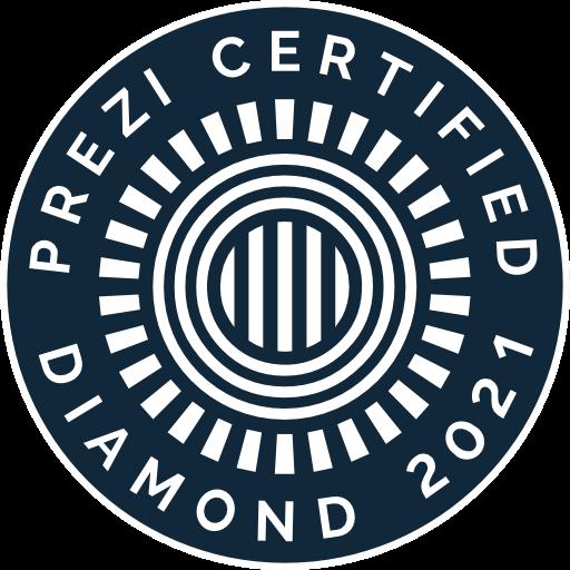 DELFER Prezi Certified Diamond Auszeichnung