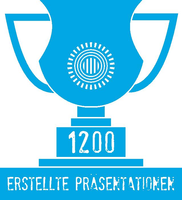 Pokal 1200 erstellte Präsentationen