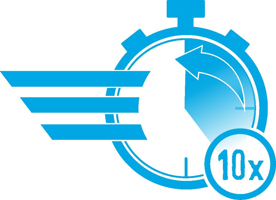 Ein Profi arbeitet 10 mal schneller als ein Anfänger